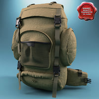 3d military backpack model