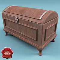 3d model old chest v4