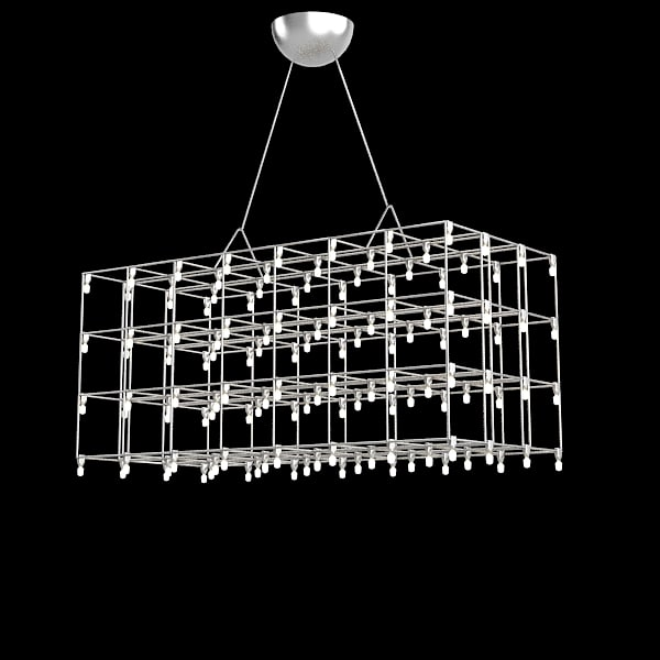 Quazar Universe Square Suspended Lamp pendant Hanglamp lattice modern contemporary hi-tech.jpg