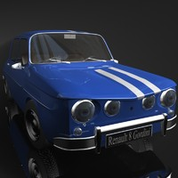 renault 8 gordini 3d x