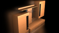 livingroom wall unit 3d model