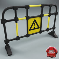 road safety barrier 3d model