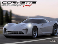 chevrolet corvette stingray concept 3d 3ds