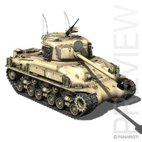 3d 3ds m-51 super sherman tanks