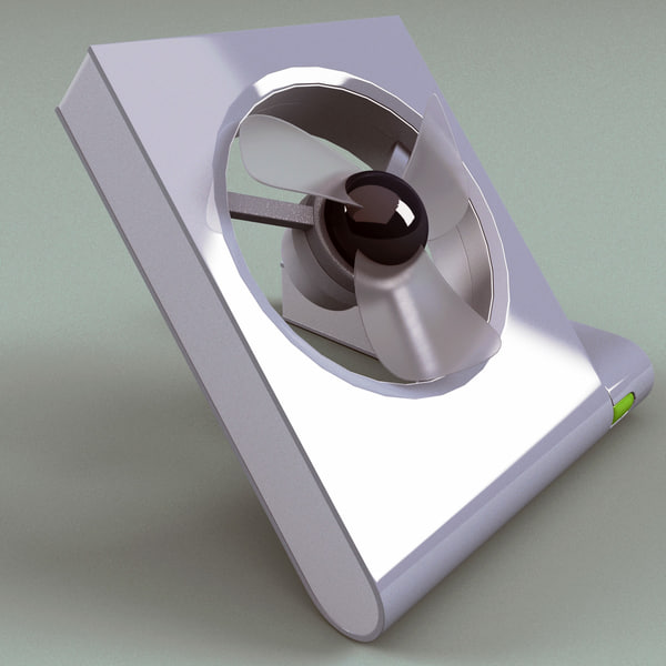 3d usb fan v3 model - USB Fan V3... by 3d_molier