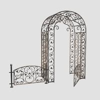 maya venetian arc railing
