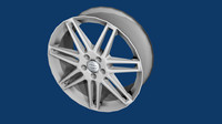 double spoke alloy wheel 3d obj