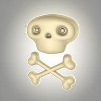 lwo cartoon skull