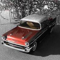 3d model of 1957 chevy