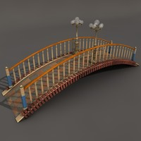 footbridge 3d c4d