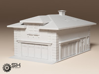 garage country construction 3d model