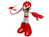 3d protoman robot boy