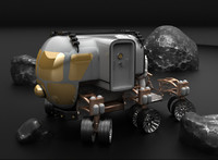 nasa moon rover 3d max