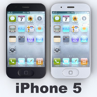 3d model apple iphone 5 concept