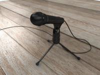 microphone mic phone 3d model