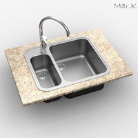 3ds max sink tap