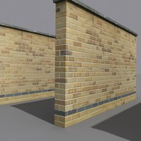 3d model brick wall coz110805530