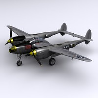 3d 3ds p-38 lightning fighter bong