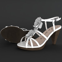 3d model realistic heel female shoes