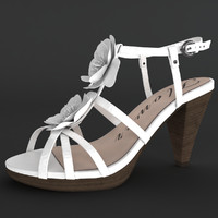 3d female shoes modeled character model