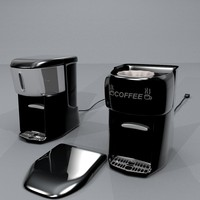 2 coffeemakers styles coffee pot obj