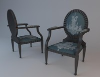3d model chair furniture