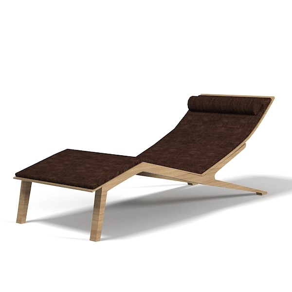 3d chaise lounge longue model for Chaise longue moderne