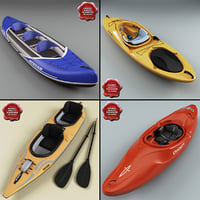 maya kayaks modelled