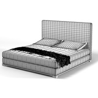 Promemoria Wanda double bed modern contemporary high back