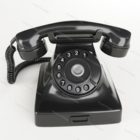 3d model of phone retro black