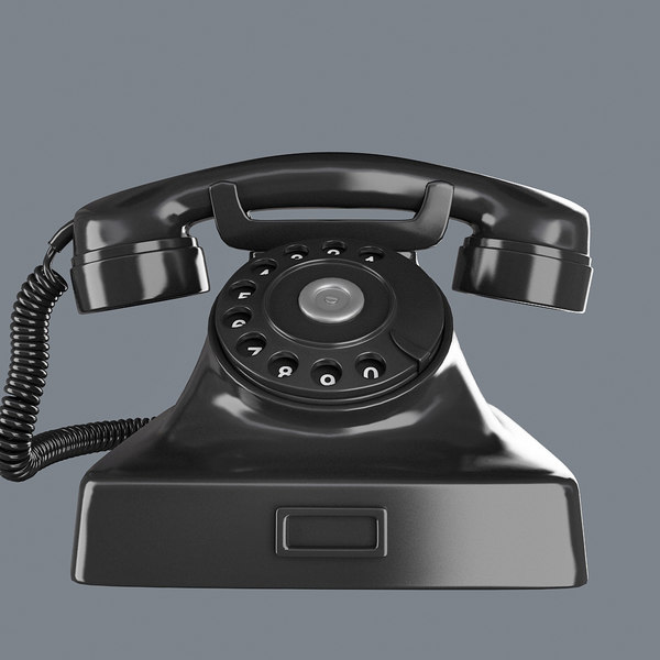 3d model of phone retro black - Retro_Phone_Black... by PlastyForma