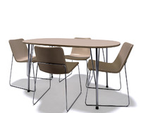 3d model simple table chairs