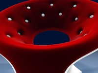 circular lounge chair 3ds