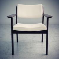 3d model scandinavian design vintage chair