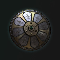 3d model fantasy medieval shield