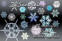 maya holiday 20 snowflakes