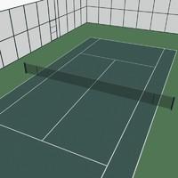 tennis court 3d max