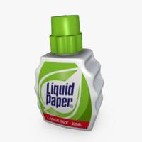 3d model liquid paper