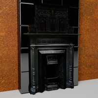 edwardian fireplace 3d max