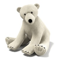 White Polar Plush Bear Toy