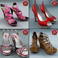 women shoe v3 3d model