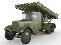 3ds max zis-6 rocket launcher truck