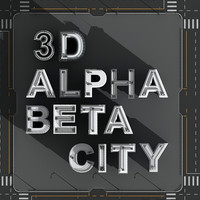 alphabetical city buildings 3d model