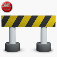 3ds max construction icons 08 barrier