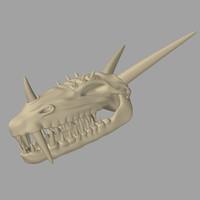 3d model dragon skull