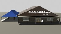 3d catfish restaurant model