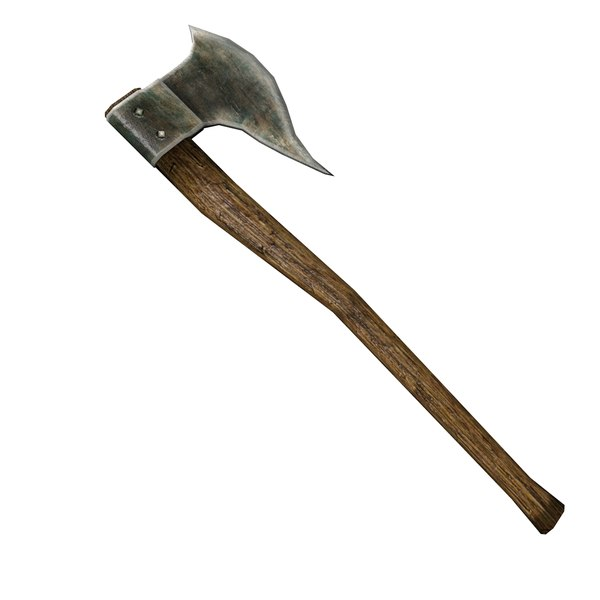 medieval battleaxe battle axe 3d 3ds - Dragon Slayer Battleaxe... by AlpArt