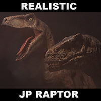 velociraptor jurassic park 3d obj