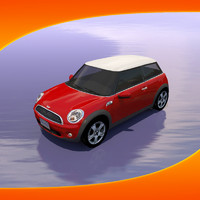 bmw austin mini car 3d model