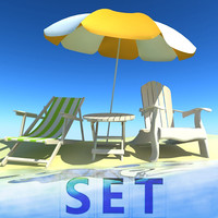 obj beach set